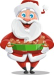 Santa Claus Cartoon Vector Character AKA Mr. Claus North-pole - Making Cookies for Christmas