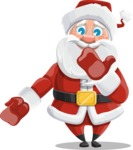 Santa Claus Cartoon Vector Character AKA Mr. Claus North-pole - Making Oops Gesture