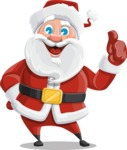Santa Claus Cartoon Vector Character AKA Mr. Claus North-pole - Making Thumbs Up