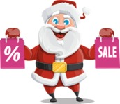 Santa Claus Cartoon Vector Character AKA Mr. Claus North-pole - On Christmas Sale