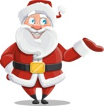 Santa Claus Cartoon Vector Character AKA Mr. Claus North-pole - Presenting