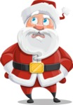 Santa Claus Cartoon Vector Character AKA Mr. Claus North-pole - Rolling Eyes