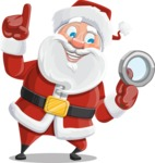 Santa Claus Cartoon Vector Character AKA Mr. Claus North-pole - Searching