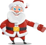 Santa Claus Cartoon Vector Character AKA Mr. Claus North-pole - Showing witha Smile