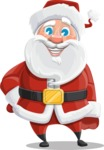 Santa Claus Cartoon Vector Character AKA Mr. Claus North-pole - Smiling