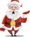 Santa Claus Cartoon Vector Character AKA Mr. Claus North-pole - Tired and Yawning