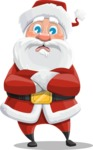 Santa Claus Cartoon Vector Character AKA Mr. Claus North-pole - Waiting with Crossed Hands