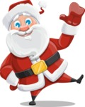 Santa Claus Cartoon Vector Character AKA Mr. Claus North-pole - Waving