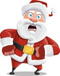 Santa Claus Cartoon Vector Character AKA Mr. Claus North-pole - With Angry Face