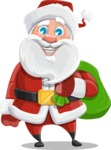 Santa Claus Cartoon Vector Character AKA Mr. Claus North-pole - With Sack full of Christmas Presents