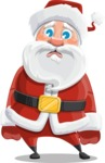 Santa Claus Cartoon Vector Character AKA Mr. Claus North-pole - With Sad Face
