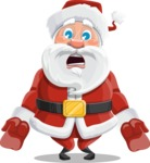 Santa Claus Cartoon Vector Character AKA Mr. Claus North-pole - With Stunned Face