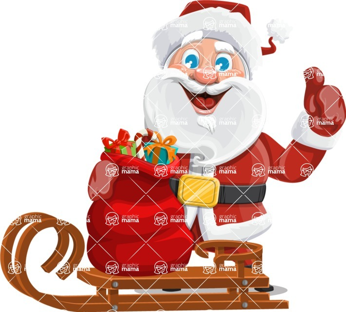 Mr. Claus North-pole - Sled With Gifts
