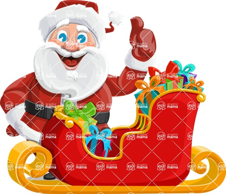 Mr. Claus North-pole - Sled With Gifts 2