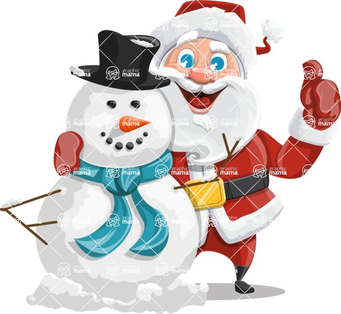 Mr. Claus North-pole - Making Snowman