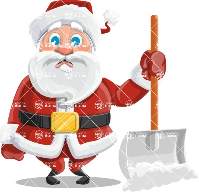 Mr. Claus North-pole - Cleaning The Snow