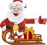 Mr. Claus North-pole - Sled With Gift