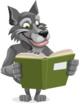 Wolf Cartoon Vector Character AKA Wolfie Paws - Book 1