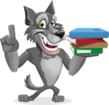 Wolf Cartoon Vector Character AKA Wolfie Paws - Book 2