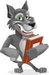 Wolf Cartoon Vector Character AKA Wolfie Paws - Book 3