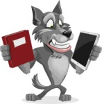 Wolf Cartoon Vector Character AKA Wolfie Paws - Book and iPad