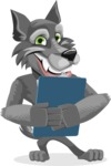 Wolf Cartoon Vector Character AKA Wolfie Paws - Notepad 2
