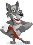 Wolf Cartoon Vector Character AKA Wolfie Paws - Notepad 3