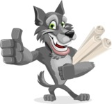 Wolf Cartoon Vector Character AKA Wolfie Paws - Plans