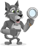 Wolf Cartoon Vector Character AKA Wolfie Paws - Search