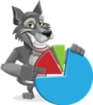 Wolf Cartoon Vector Character AKA Wolfie Paws - Chart