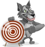 Wolf Cartoon Vector Character AKA Wolfie Paws - Target