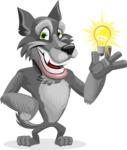Wolf Cartoon Vector Character AKA Wolfie Paws - Idea 1