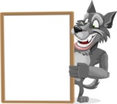 Wolf Cartoon Vector Character AKA Wolfie Paws - Presentation 4