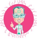 Humanoid Robot Vector Cartoon Character AKA Elton - Shape 1