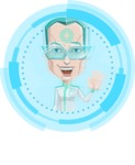 Humanoid Robot Vector Cartoon Character AKA Elton - Shape 3