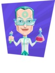 Humanoid Robot Vector Cartoon Character AKA Elton - Shape 4