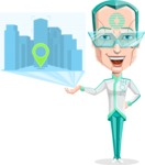 Humanoid Robot Vector Cartoon Character AKA Elton - Map