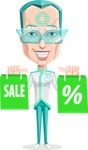 Humanoid Robot Vector Cartoon Character AKA Elton - Sale 1