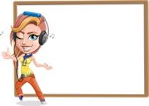 Dance Woman Vector Cartoon Character AKA Melissa - Presentation 4