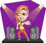 Dance Woman Vector Cartoon Character AKA Melissa - Shape 5