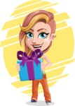 Dance Woman Vector Cartoon Character AKA Melissa - Shape 8