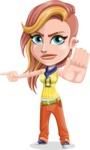 Dance Woman Vector Cartoon Character AKA Melissa - Direct Attention 1