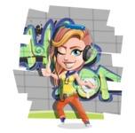 Dance Woman Vector Cartoon Character AKA Melissa - Shape 12