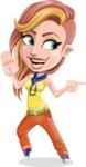 Dance Woman Vector Cartoon Character AKA Melissa - Direct Attention 2