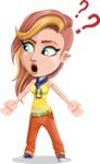 Dance Woman Vector Cartoon Character AKA Melissa - Lost