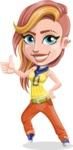 Dance Woman Vector Cartoon Character AKA Melissa - Thumbs Up