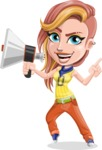Dance Woman Vector Cartoon Character AKA Melissa - Loudspeaker