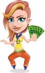 Dance Woman Vector Cartoon Character AKA Melissa - Show me the money