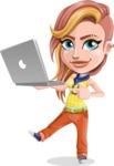 Dance Woman Vector Cartoon Character AKA Melissa - Laptop 1