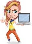 Dance Woman Vector Cartoon Character AKA Melissa - Laptop 3